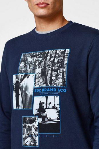 EDC BY ESPRIT Baumwoll-Sweatshirt mit Foto-Print