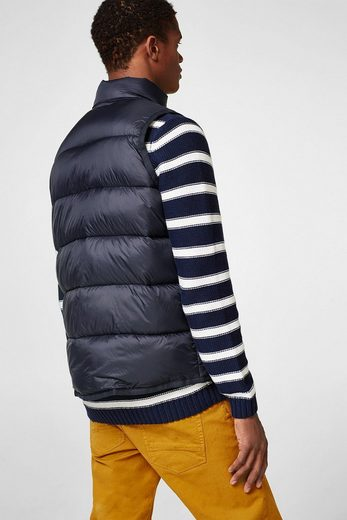 Esprit Quilted Vest With Patch Bags