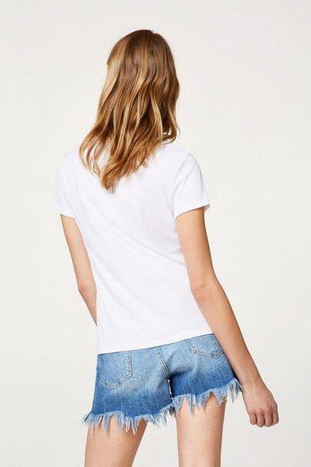 Edc By Esprit Softes T-shirt Mit Stern-applikation
