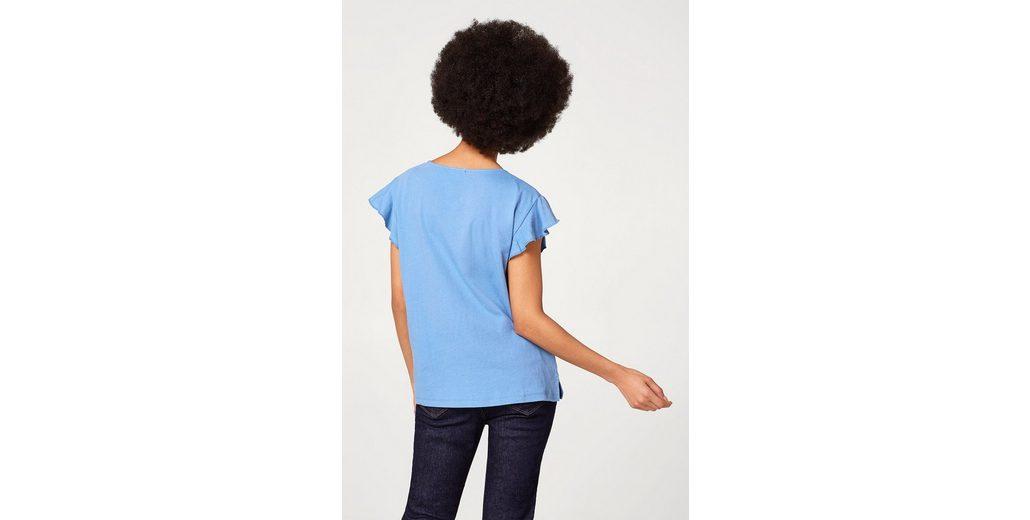 ESPRIT Shirt aus Leinen-Mix mit Rüschenärmeln Auslass Wirklich rbyab