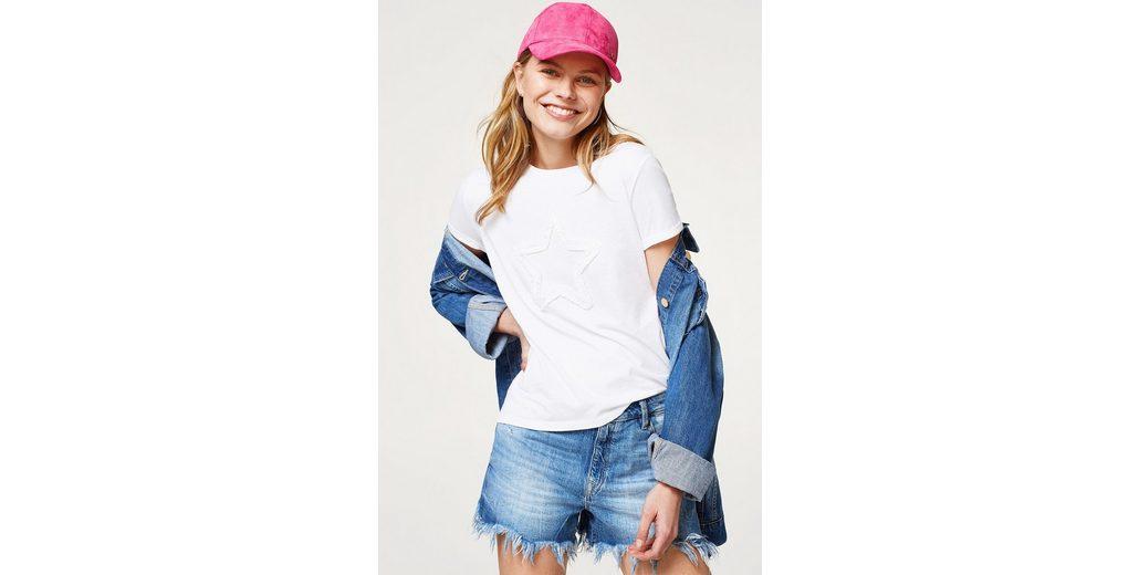 EDC BY ESPRIT Softes T-Shirt mit Stern-Applikation Günstige Spielraum Amazon Kaufen hLUSG