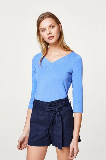 ESPRIT COLLECTION Stretch-Shirt mit Layer-V-Neck