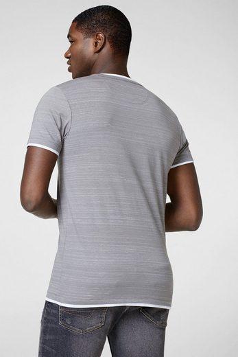 ESPRIT Henley-Shirt aus softem Jersey