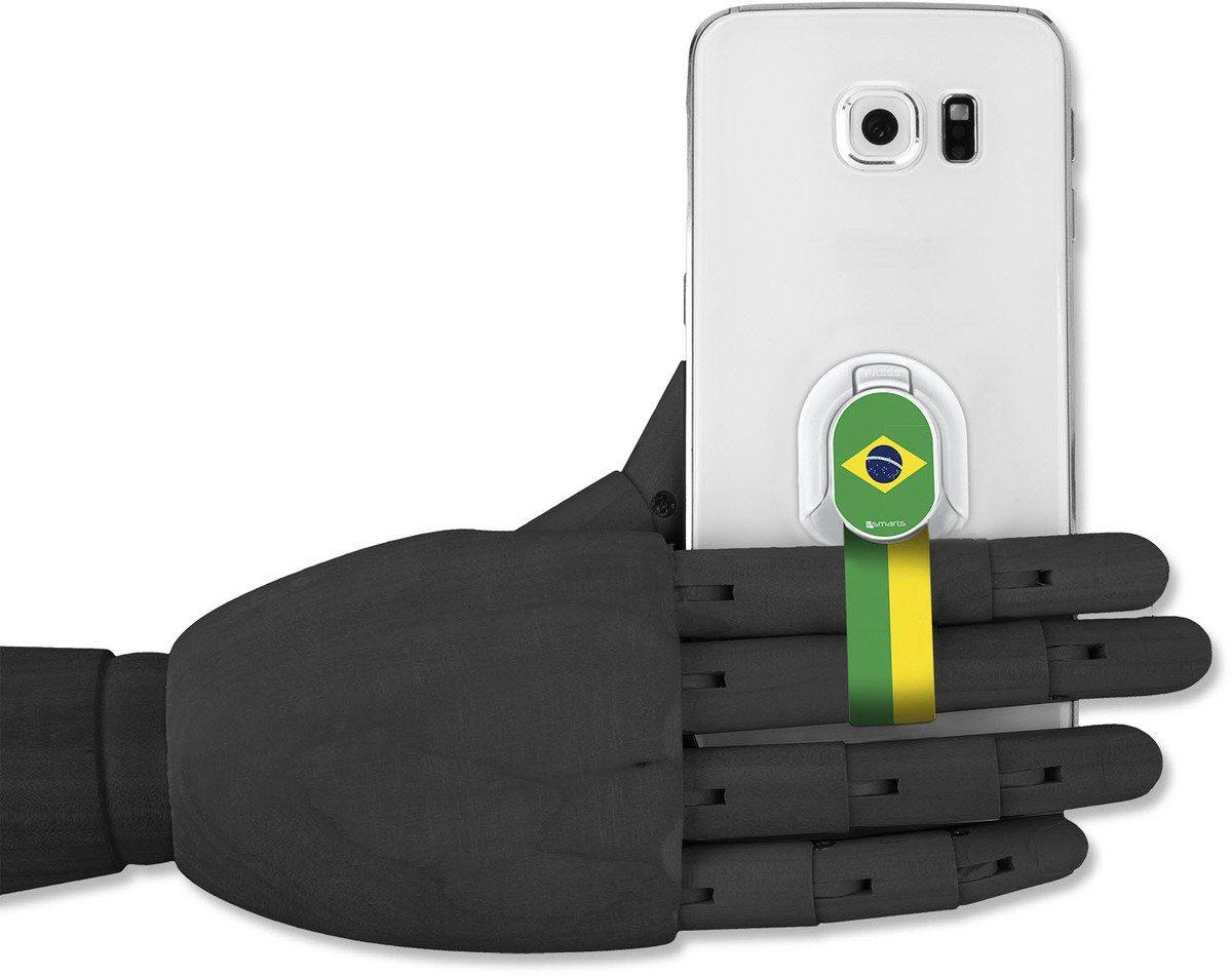 4Smarts Zubehör »Finger Halteschlaufe für Smartphones, Brasilien«