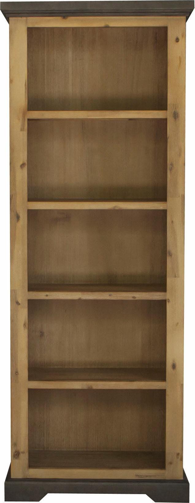 Quadrato Bücherregal »Panama«, aus gebürstetem Akazienholz in Betonopik, Breite 75 cm