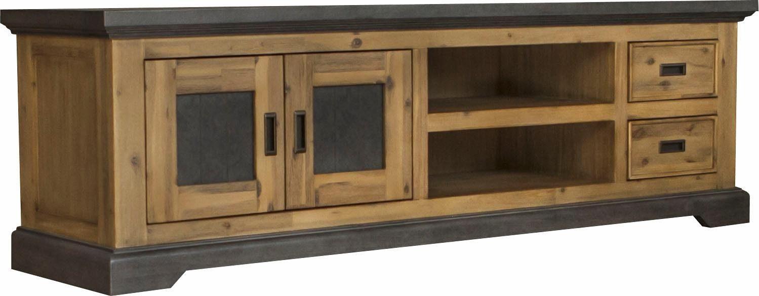 Quadrato Lowboard »Panama« mit viel Stauraum und einer einzigartigen Holz Beton-Optik, Breite 180 cm