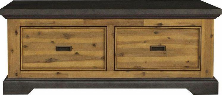 Quadrato Couchtisch »Panama«, aus gebürsteten Akazienholz, Top-und Fußleiste in Beton-Optik, Breite 120 cm