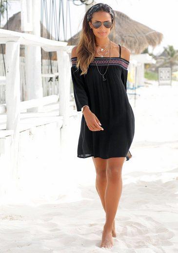 s.Oliver Beachwear Strandkleid aus gewebter Viskose