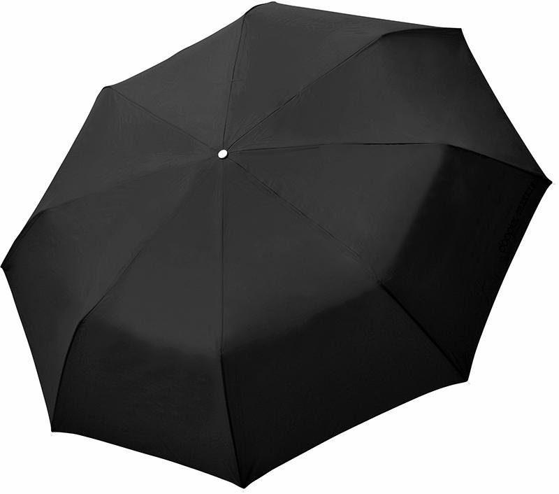 doppler® Regenschirm - Taschenschirm, »Fiber Golf Trekking uni schwarz«