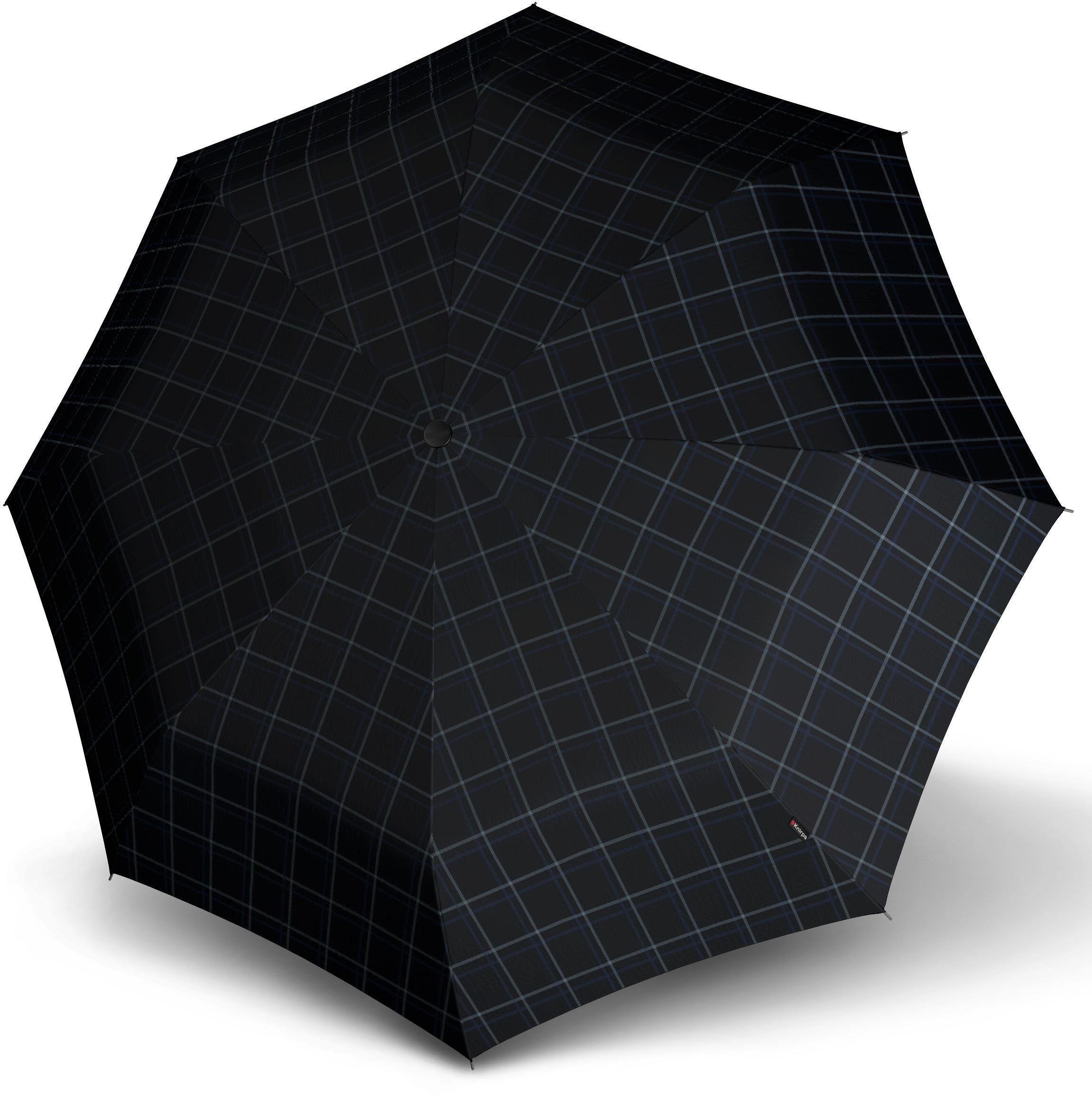 Knirps® Regenschirm - Taschenschirm, »T.300 check black & blue«