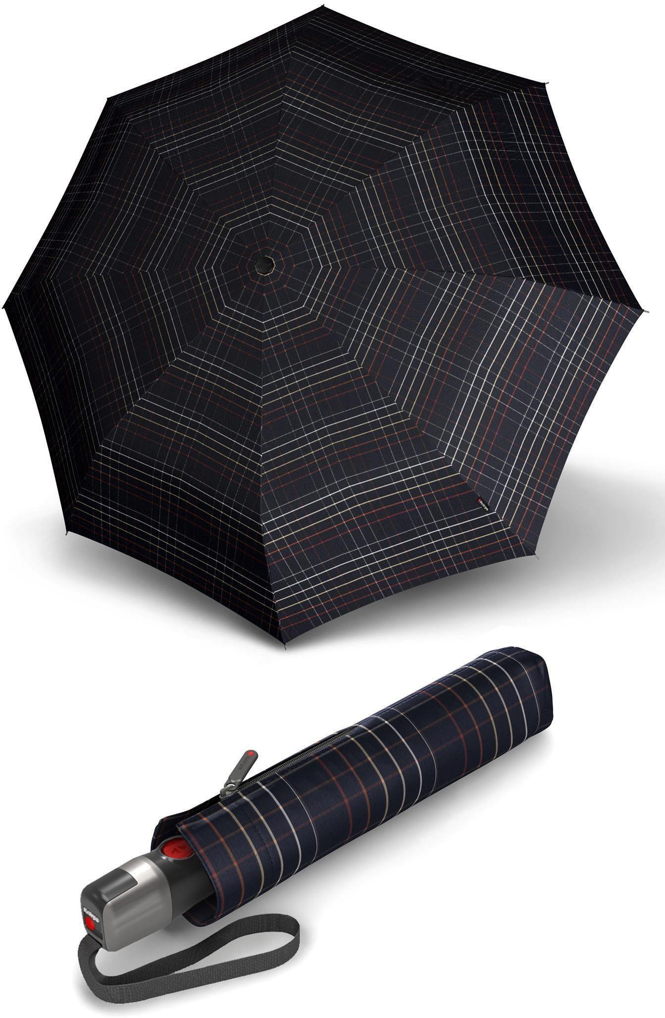 Knirps® Regenschirm - Taschenschirm, »T.300 check black«