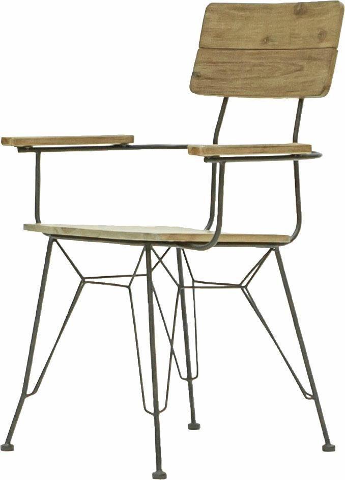 Quadrato Stuhl »Mirage«, Gestell aus Metall mit Sitz- und Rückenlehne aus Akazienholz, Sitzhöhe 45 cm