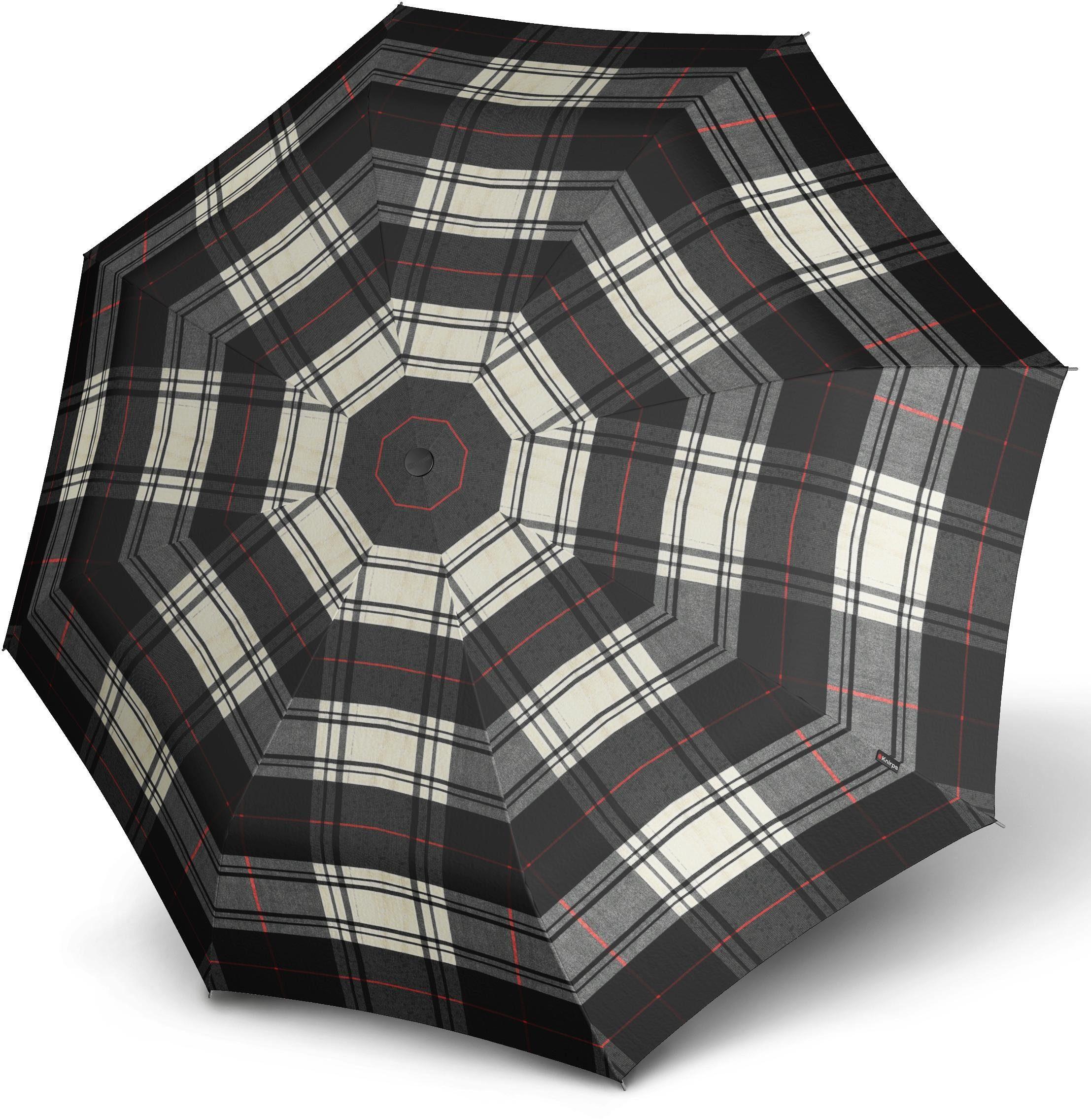 Knirps® Regenschirm - Taschenschirm, »T.200 Medium Duomatic check black & white«
