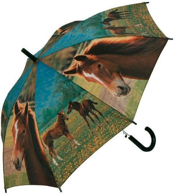doppler® Regenschirm für Kinder, »Art Collection Jugend AC Pferde«