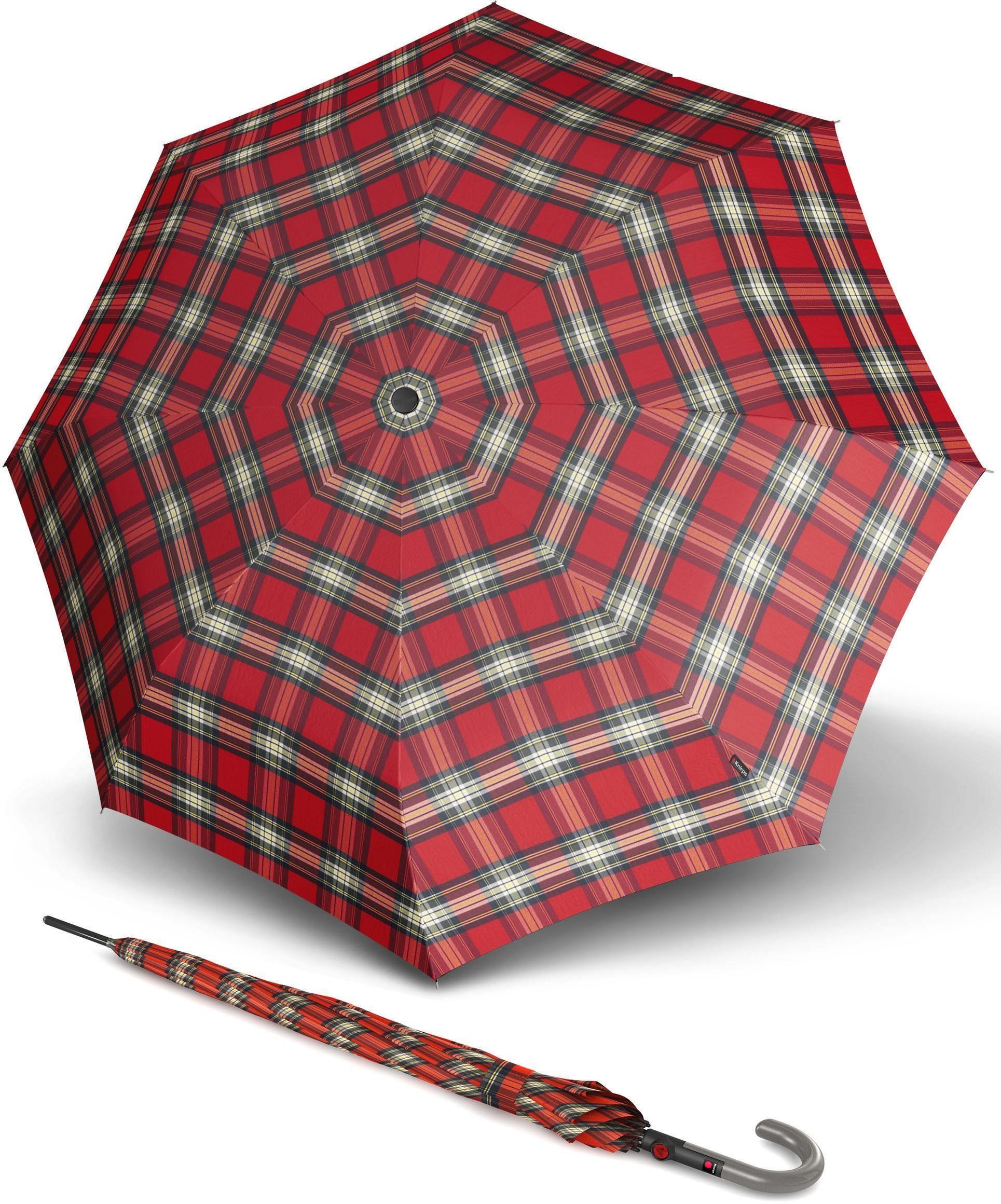 Knirps® Regenschirm - Langschirm, »T.703 Stick Automatic check red«
