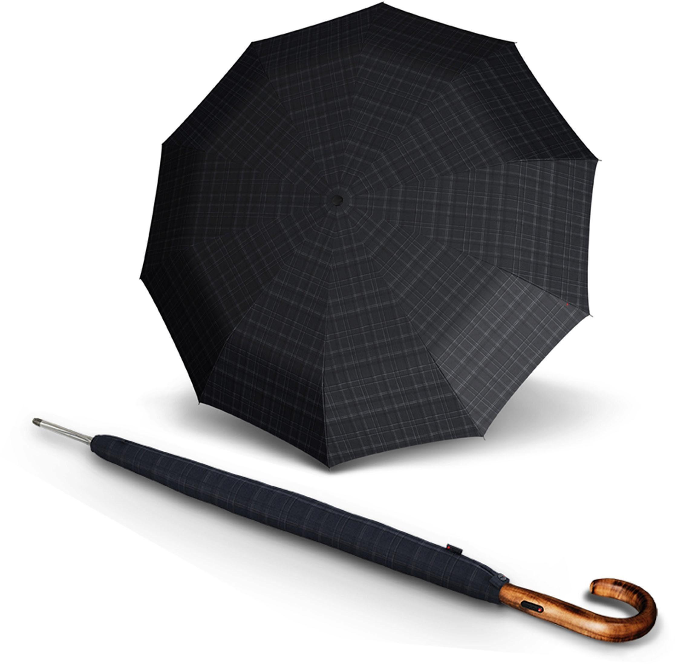 Knirps® Regenschirm - Langschirm, »T.703 Stick Automatic men's prints grey«