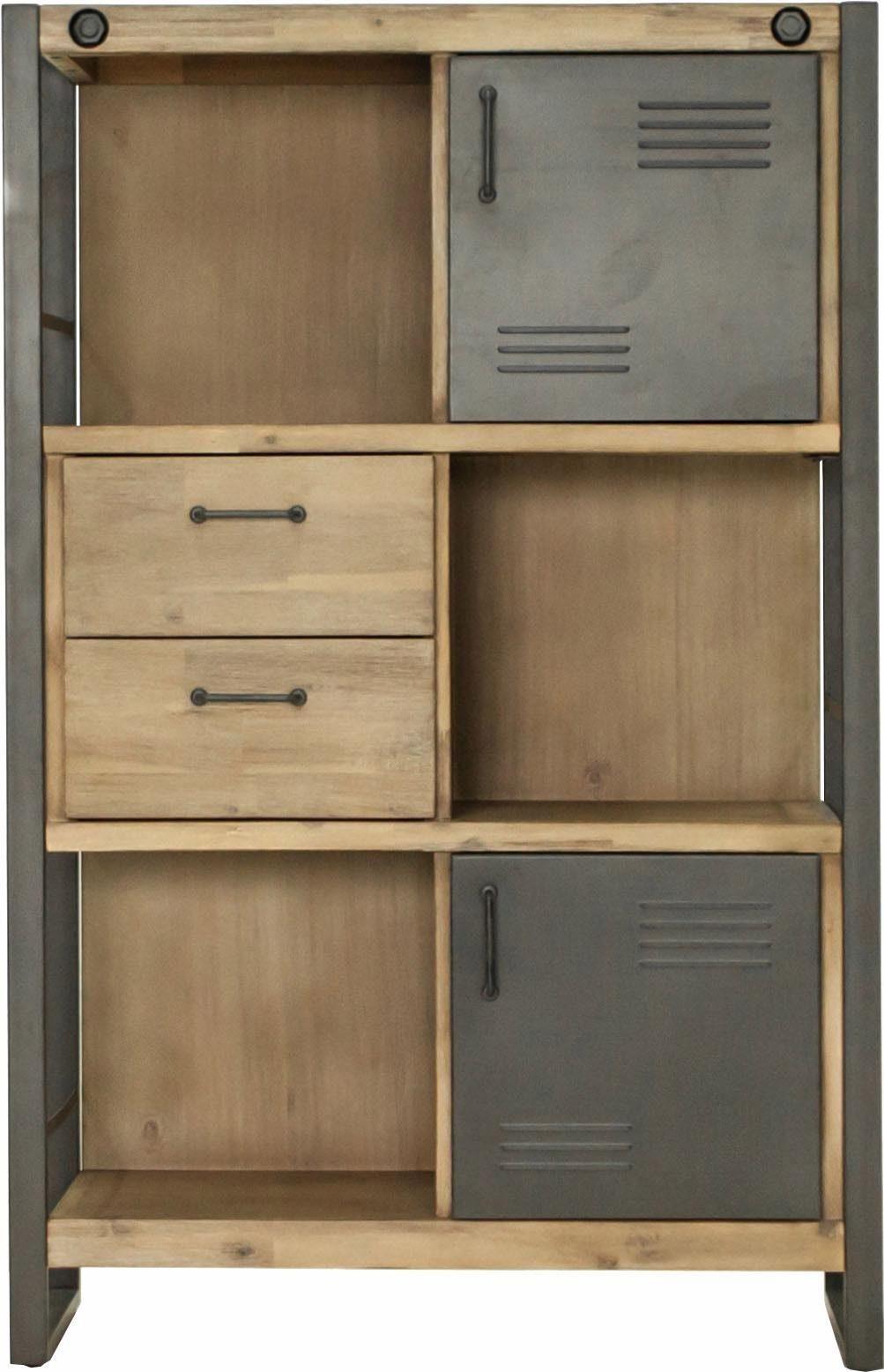 Quadrato Highboard »Mirage« mit Metallschrauben als Dekorationselement, im Industrial-Style, Breite 90 cm