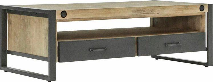 Quadrato Couchtisch »Mirage«, mit Metallschrauben als Dekorationselement, Tischplatte aus massiver Akazie
