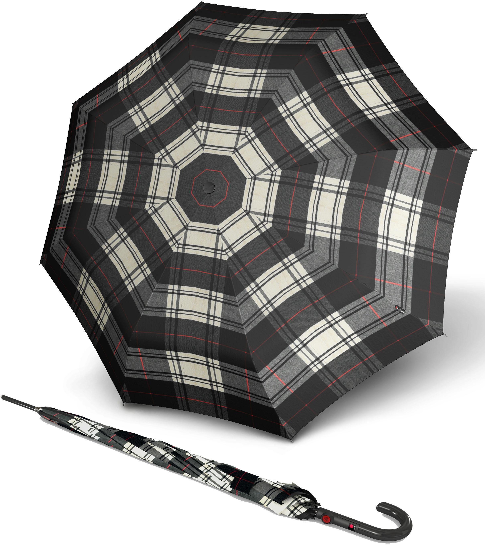 Knirps® Regenschirm - Langschirm, »T.703 Stick Automatic check black & white«