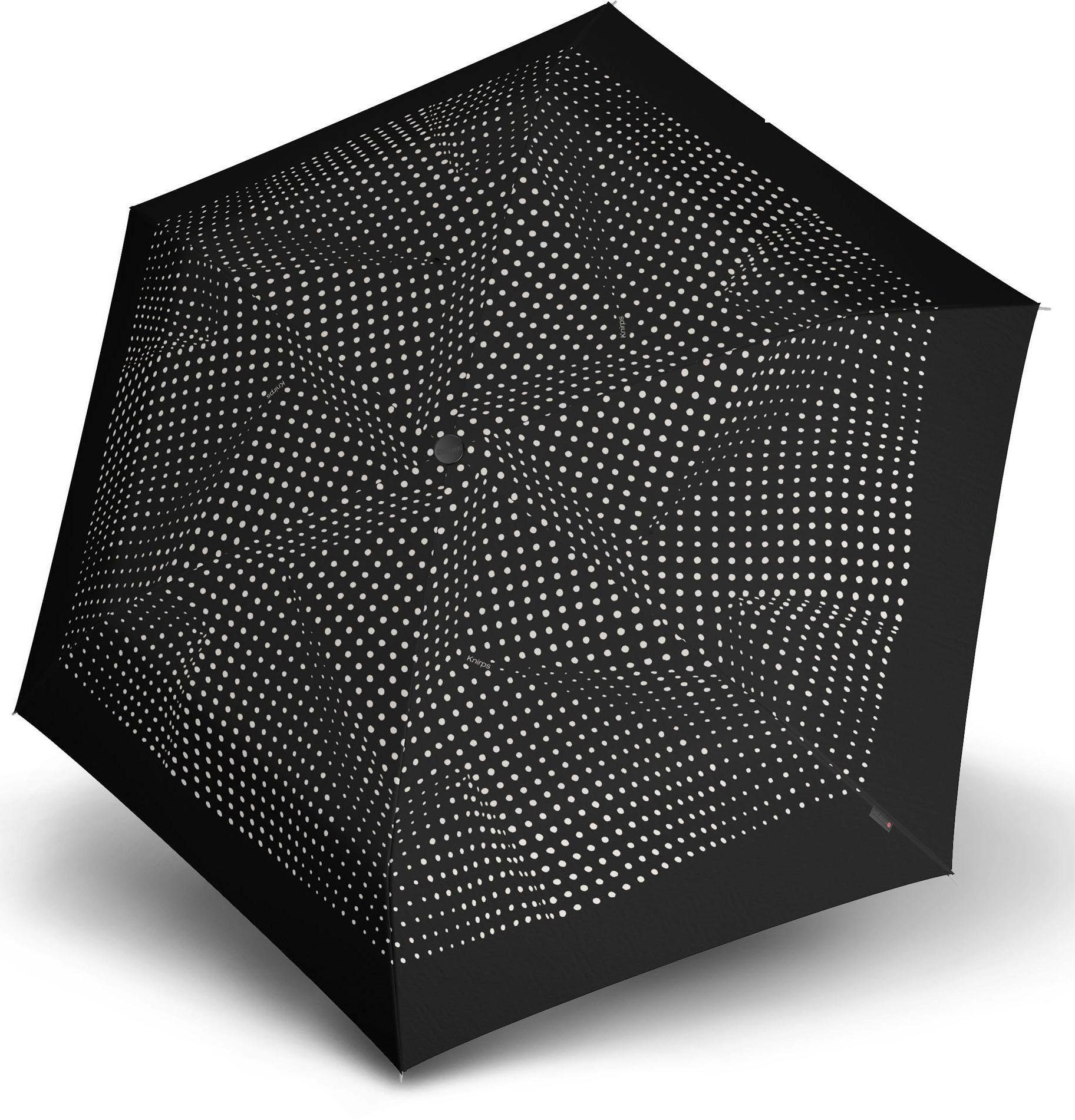 Knirps® Regenschirm - Taschenschirm, »TS.200 Slim Medium Duomatic bolero black/ecru«
