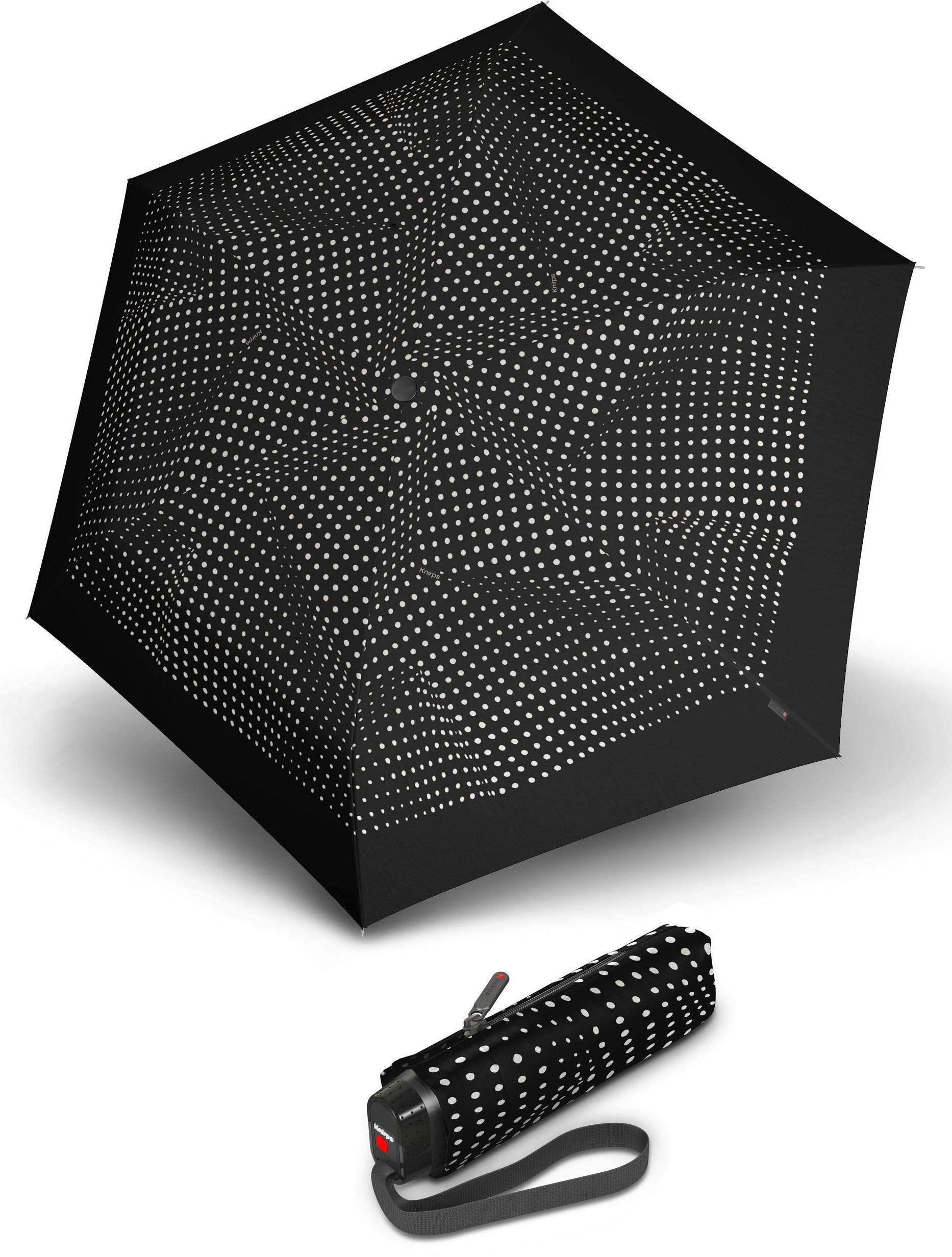 Knirps® Regenschirm - Taschenschirm, »TS.010 Slim Small Manual bolero black/ecru«