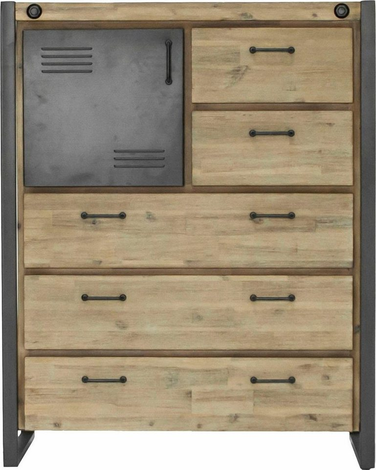 quadrato kommode mirage mit vielen stauraumm glichkeiten f nf schubladen und zwei f cher. Black Bedroom Furniture Sets. Home Design Ideas
