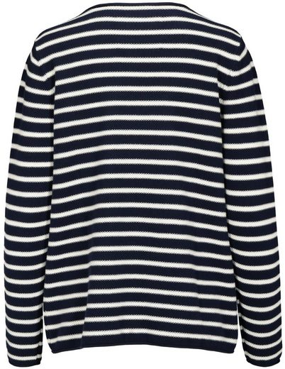 In Linea Crew-neck Sweater With Stripes Design