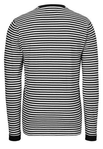 East London Club Langarmshirt With Stripe Pattern