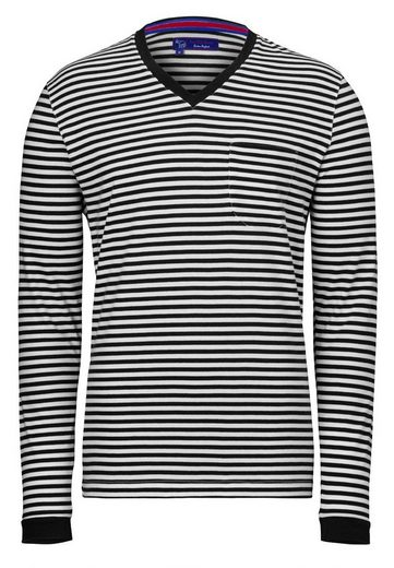 East Club London Langarmshirt mit Streifenmuster