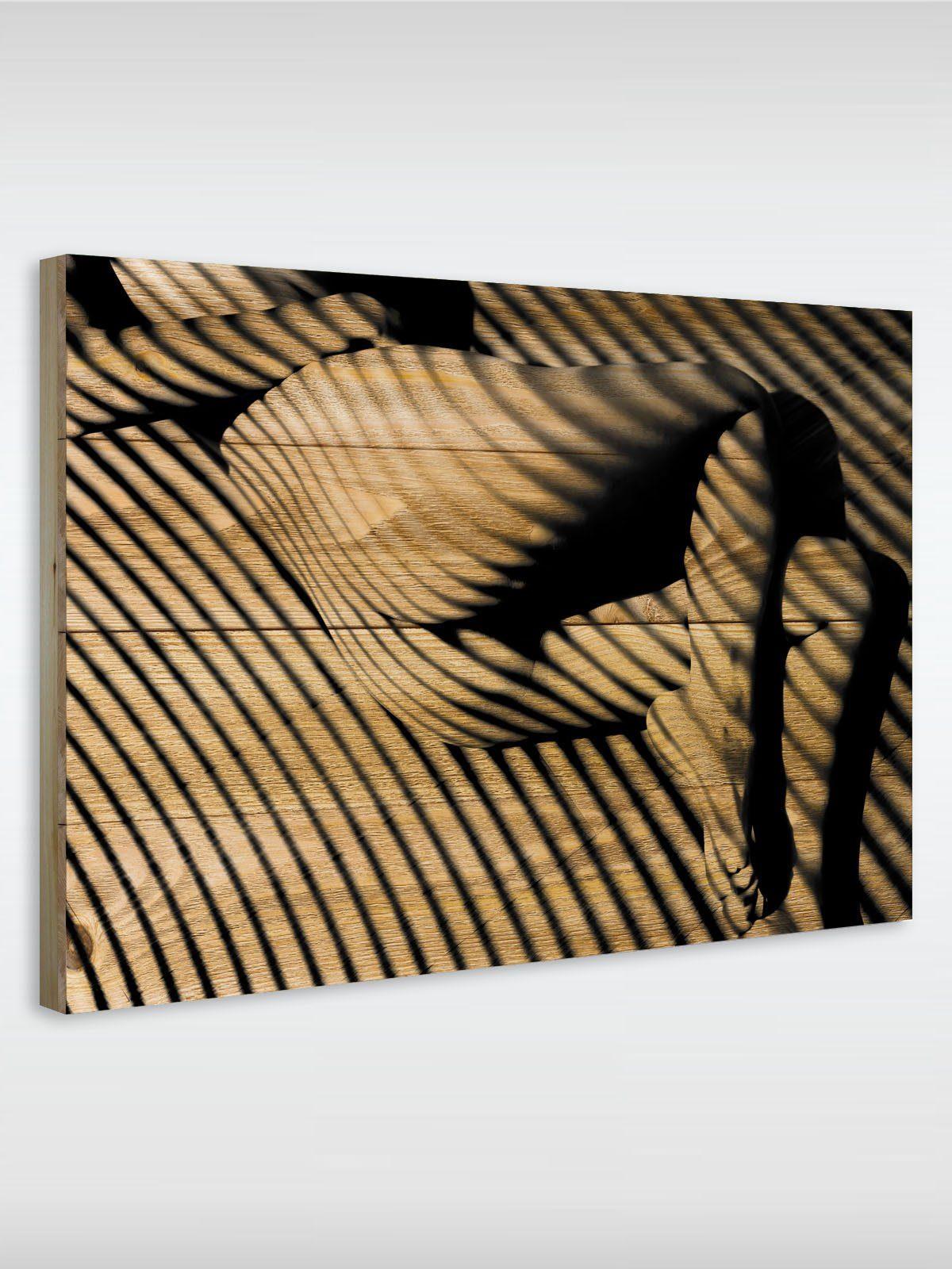 roombird Massiv-Holz Bild mit Druck in den Maßen 50 x 70 cm. »Holzbild Naked Girl 50 x 70 cm«