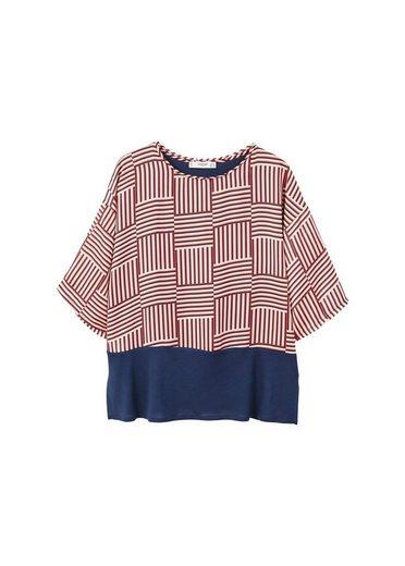 Mango T-shirt With Contrast-design