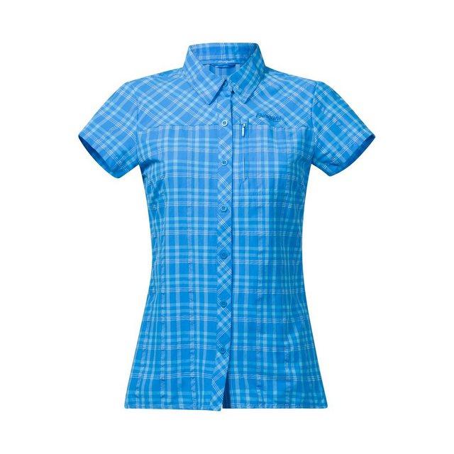 Damen Bergans Kurzarmbluse blau | 07031581724606