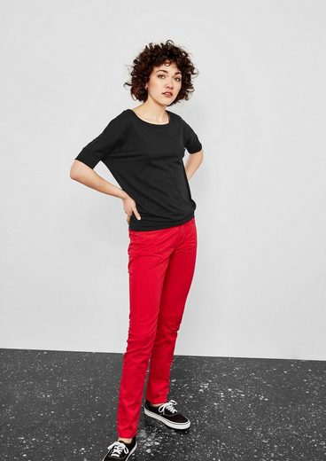 Q/S designed by V-Shape-Shirt mit Bündchen