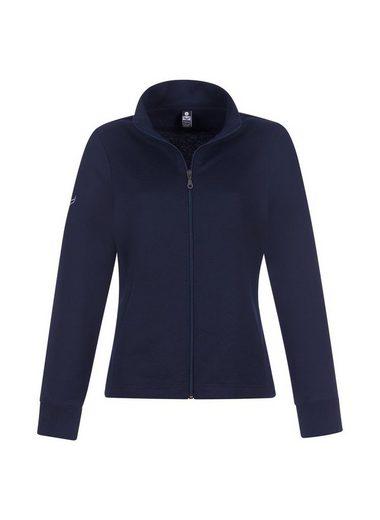 Trigema Sweat Jacket With Stehkragen