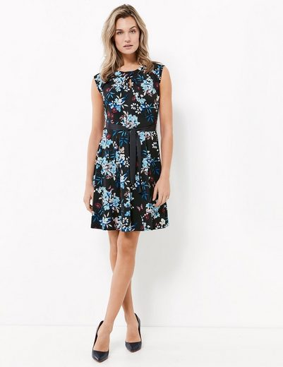Typhoon Dress Knits Slinky Gown With Floral-print