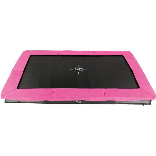 EXIT Trampolin Silhouette Ground Rechteckig 214x305 cm, rosa
