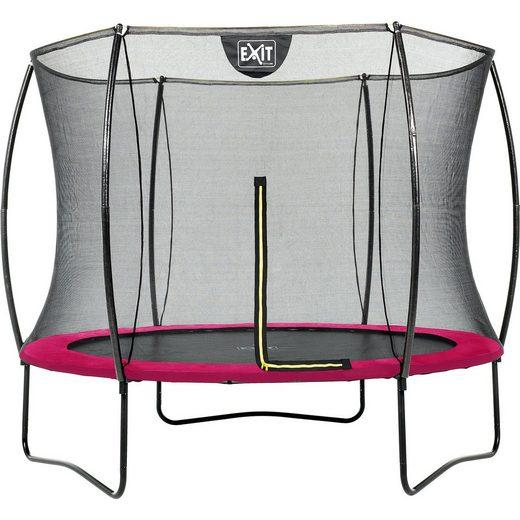 EXIT Trampolin Silhouette 244 cm + Sicherheitsnetz, rosa