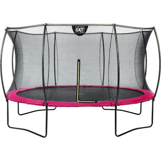 EXIT Trampolin Silhouette 366 cm + Sicherheitsnetz, rosa