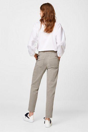 ESPRIT Jogg-Pants aus Twill mit Stretchkomfort
