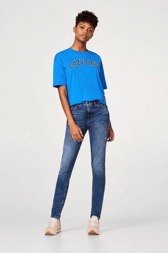 ESPRIT Stretch-Jeans mit lässigen Used-Effekten