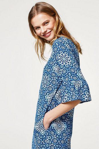 ESPRIT Fließendes Kleid mit Ornament-Print