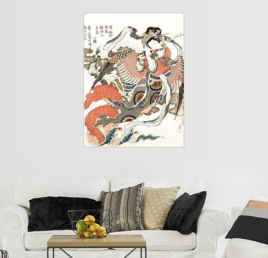 Posterlounge Wandbild - Katsushika Hokusai »Tennin«