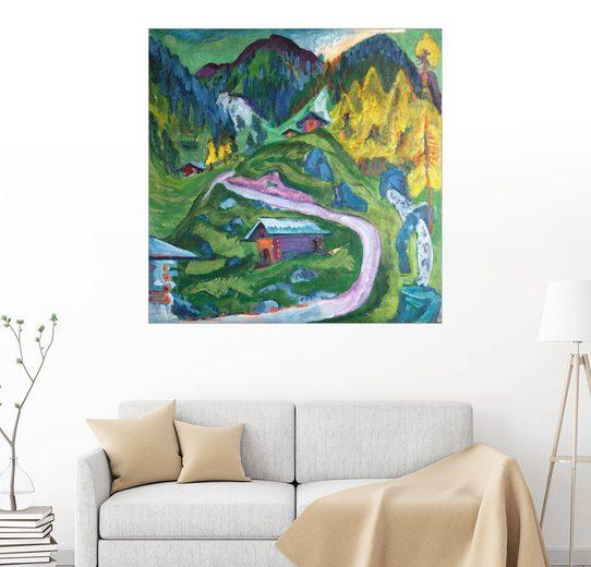 Posterlounge Wandbild - Ernst Ludwig Kirchner »Alpleben«