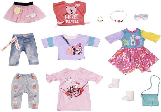 Baby Born Puppenkleidung »City Fashion« (Set, 12-tlg)