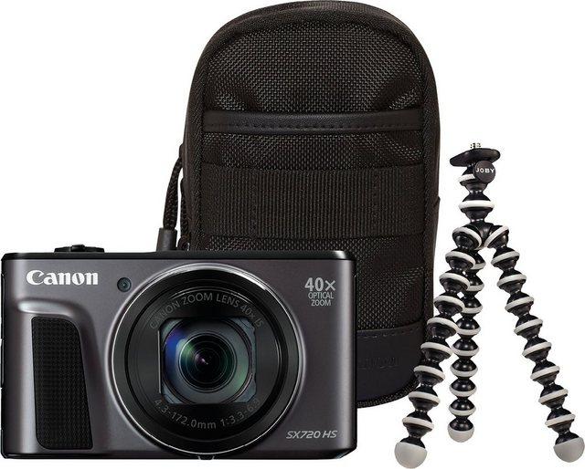 Digitalkameras - Canon »PowerShot SX720 HS« Kompaktkamera (WLAN (Wi Fi), NFC, Travel Case Gorillapod (Ministativ)  - Onlineshop OTTO