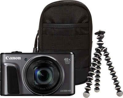 Canon »Power Shot SX720 HS« Kompaktkamera (WLAN (Wi-Fi), NFC, Travel Case & Gorillapod (Ministativ)
