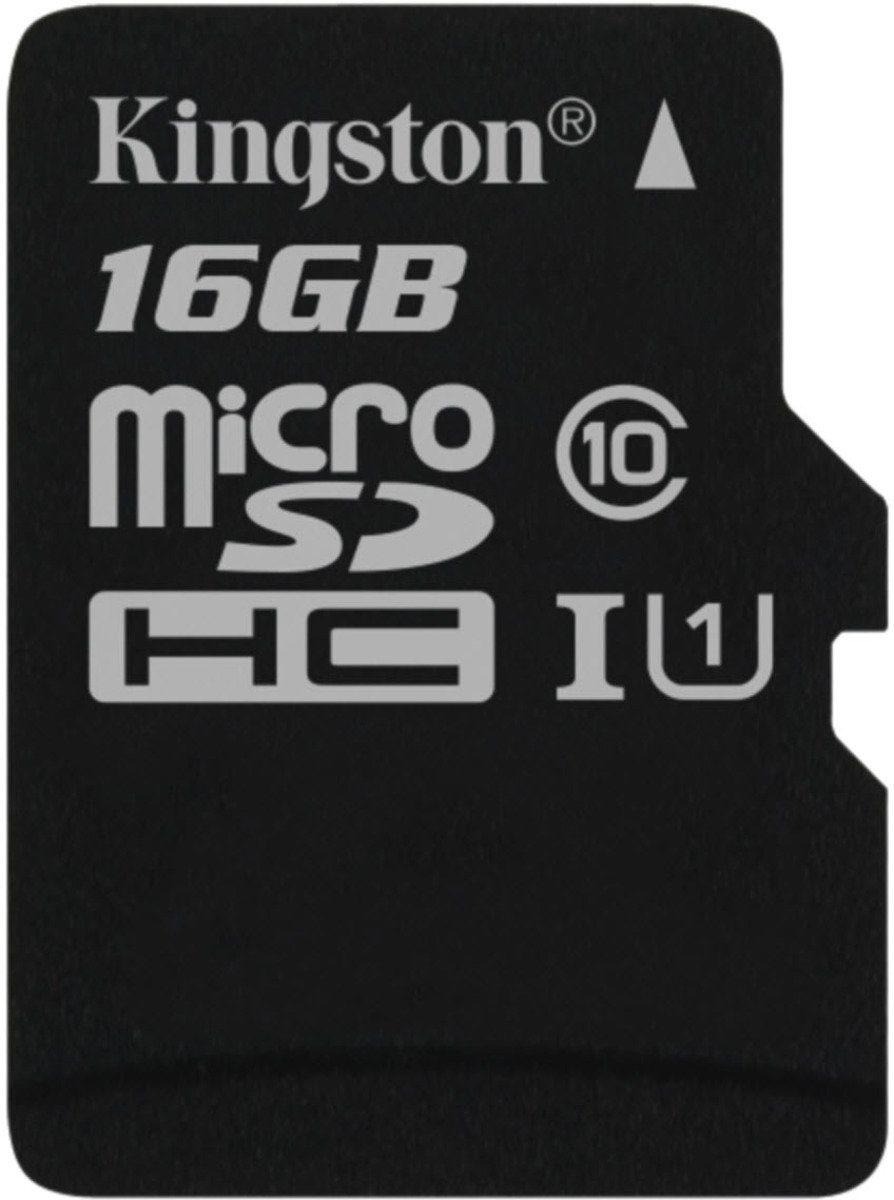 Kingston Speicherkarte »microSDHC Class 10 UHS-I Single ohne Adapter, 16GB«