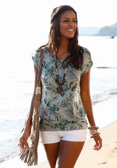 LASCANA Longshirt mit breitem Bund