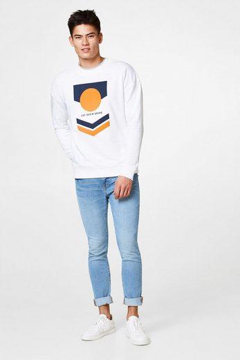 EDC BY ESPRIT Baumwoll-Sweatshirt mit Retro-Print