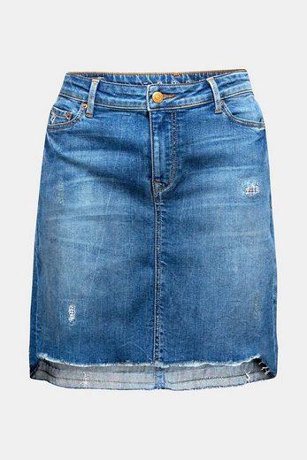 ESPRIT Jeans-Stretch-Rock mit Destroyed-Effekten